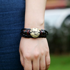 Capricornus Constellation Woven Leather Bracelet - Oh Yours Fashion - 3