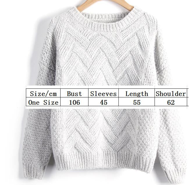 Scoop Pull Over Knitting Sweater - Oh Yours Fashion - 5