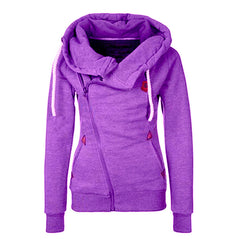 Sport High Neck Lace Up Casual Hoodie - O Yours Fashion - 3