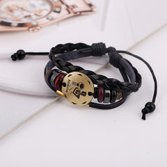 Aquarius Constellation Woven Leather Bracelet - Oh Yours Fashion - 3