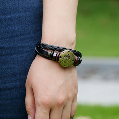 Sagittarius Constellation Woven Leather Bracelet - Oh Yours Fashion - 2