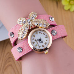 Crystal Butterfly Bracelet Watch - Oh Yours Fashion - 10