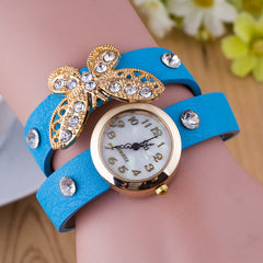 Crystal Butterfly Bracelet Watch - Oh Yours Fashion - 1