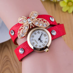 Crystal Butterfly Bracelet Watch - Oh Yours Fashion - 4