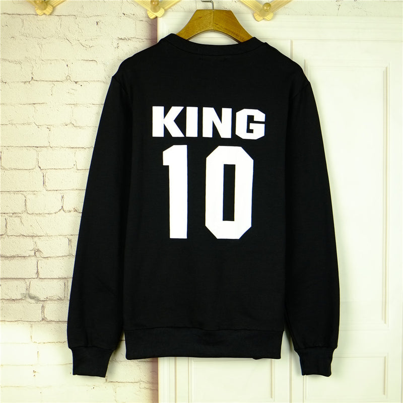 Print Scoop Pullover Long Sleeve Hoodie - Oh Yours Fashion - 5