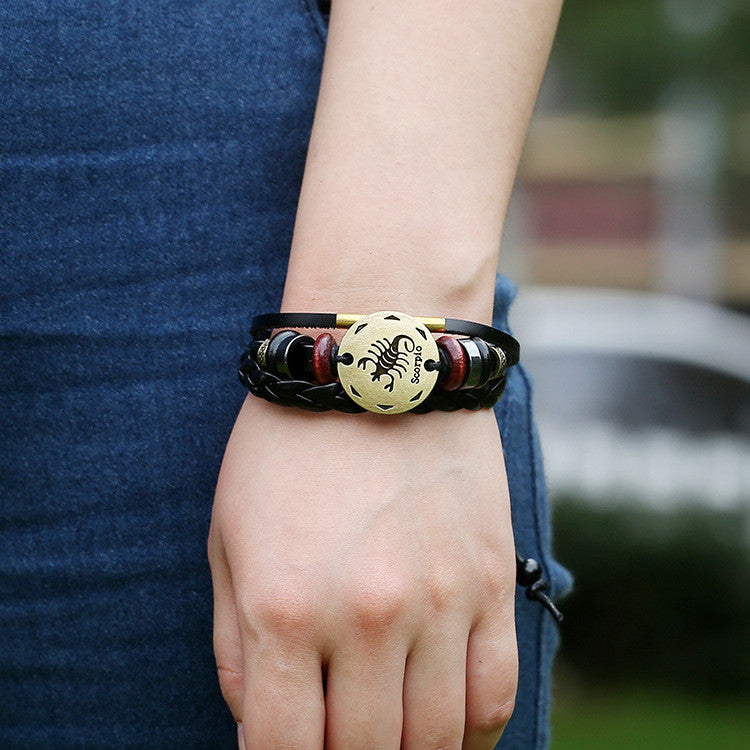 Scorpio Constellation Leather Bracelet - Oh Yours Fashion - 2