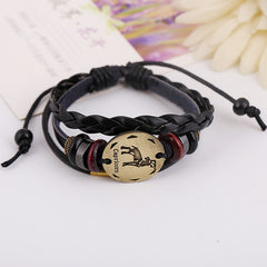 Capricornus Constellation Woven Leather Bracelet - Oh Yours Fashion - 2