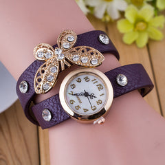 Crystal Butterfly Bracelet Watch - Oh Yours Fashion - 5