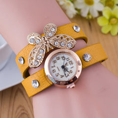 Crystal Butterfly Bracelet Watch - Oh Yours Fashion - 3