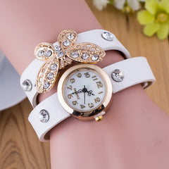 Crystal Butterfly Bracelet Watch - Oh Yours Fashion - 2