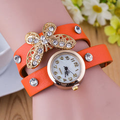 Crystal Butterfly Bracelet Watch - Oh Yours Fashion - 8