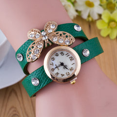 Crystal Butterfly Bracelet Watch - Oh Yours Fashion - 6