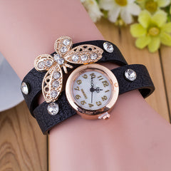 Crystal Butterfly Bracelet Watch - Oh Yours Fashion - 7