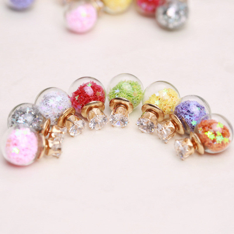 Fashion Glass Ball Color Star Earring - Oh Yours Fashion - 4