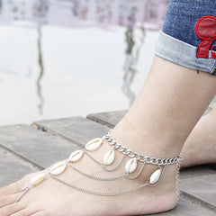 Natrual Shell Tassel Anklet Armlet - Oh Yours Fashion - 3