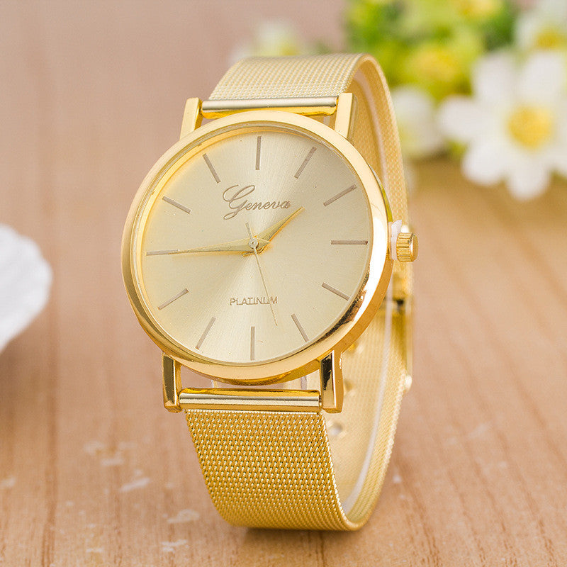 Classic Mesh Alloy Strap Fashion Watch - Oh Yours Fashion - 1