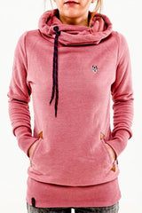Embroidered Pocket Pure Color Womens Hoodie - O Yours Fashion - 2