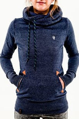 Embroidered Pocket Pure Color Womens Hoodie - O Yours Fashion - 6