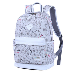 Preppy Style Print School Backpack Travel Bag - Oh Yours Fashion - 4