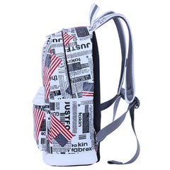 Preppy Style Print School Backpack Travel Bag - Oh Yours Fashion - 8