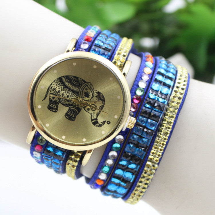 Colorful Beads Strap Elephant Watch - Oh Yours Fashion - 2