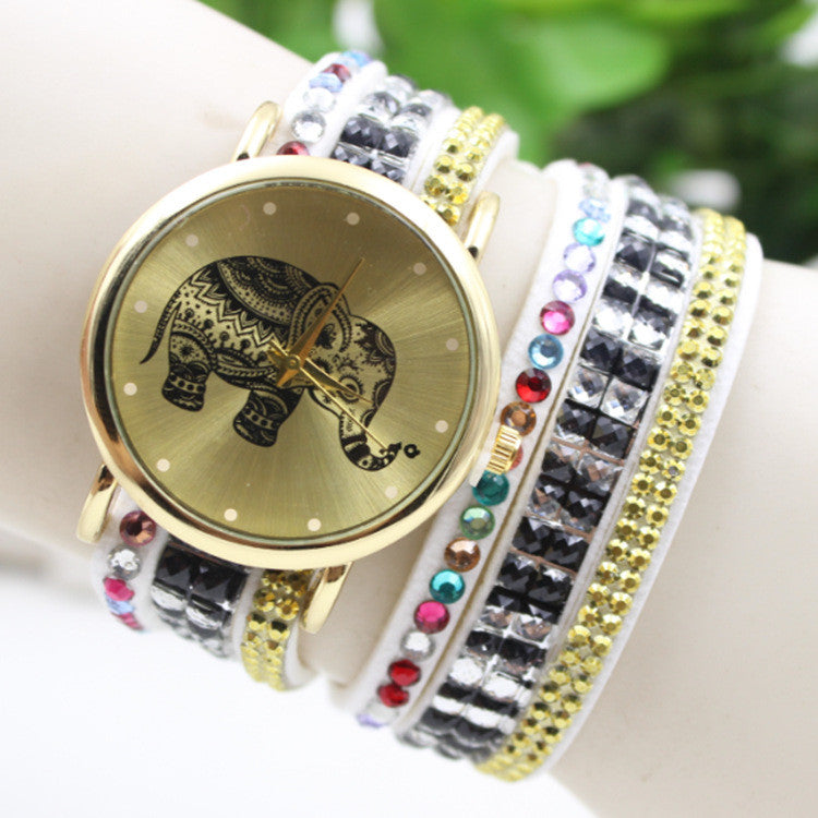 Colorful Beads Strap Elephant Watch - Oh Yours Fashion - 3