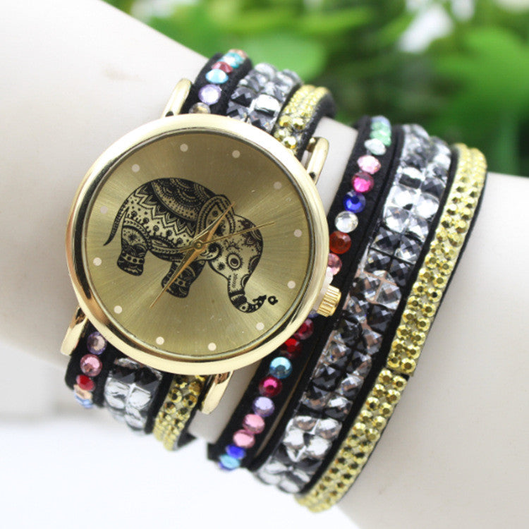 Colorful Beads Strap Elephant Watch - Oh Yours Fashion - 1