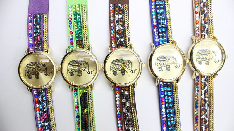 Colorful Beads Strap Elephant Watch - Oh Yours Fashion - 5