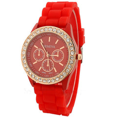 Casual Style Silica Gel Three Eyes Watch - Oh Yours Fashion - 5