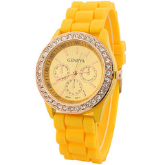 Casual Style Silica Gel Three Eyes Watch - Oh Yours Fashion - 2