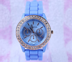 Casual Style Silica Gel Three Eyes Watch - Oh Yours Fashion - 7