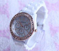 Casual Style Silica Gel Three Eyes Watch - Oh Yours Fashion - 1