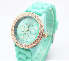 Casual Style Silica Gel Three Eyes Watch - Oh Yours Fashion - 6