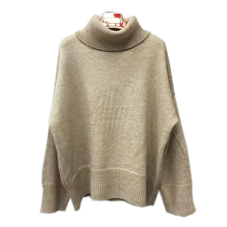 Loose Profile Joker Turtleneck Pullover Sweater - Oh Yours Fashion - 5