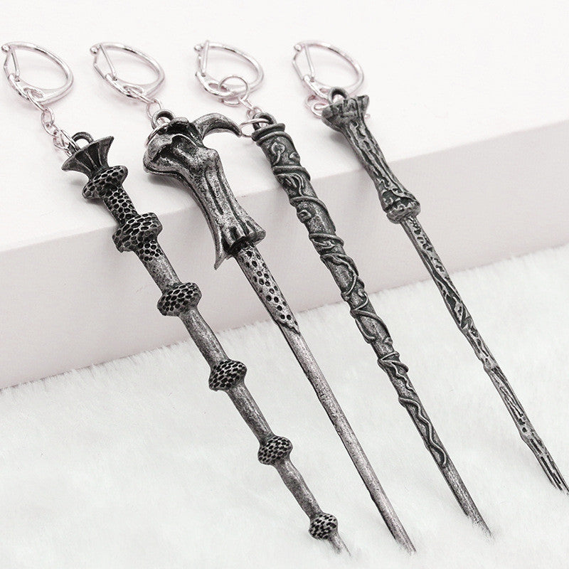 Alloy Ornament Magic Wand Key Chain - Oh Yours Fashion - 1
