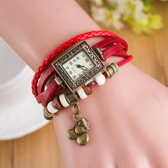 Retro Square Dial Cherry Bracelet Watch - Oh Yours Fashion - 3