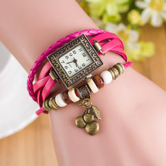 Retro Square Dial Cherry Bracelet Watch - Oh Yours Fashion - 9