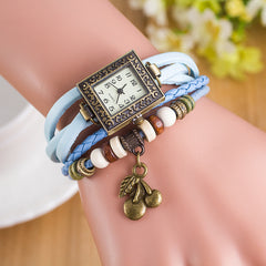 Retro Square Dial Cherry Bracelet Watch - Oh Yours Fashion - 10