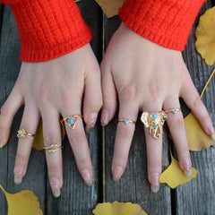 Exaggerate Elephant Snake Multi Combination Rings - Oh Yours Fashion - 1