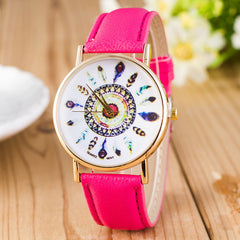 Beautiful Peacock Feather Leather Watch - Oh Yours Fashion - 8