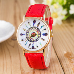 Beautiful Peacock Feather Leather Watch - Oh Yours Fashion - 2