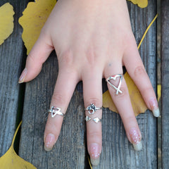 3D Geometric Triangle Free Combination Ring - Oh Yours Fashion - 3