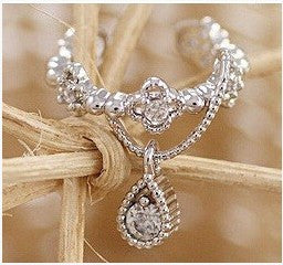Crystal Water Drop Beautiful Ear Clip - Oh Yours Fashion - 3