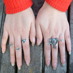 Exaggerate Elephant Snake Multi Combination Rings - Oh Yours Fashion - 5