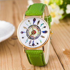 Beautiful Peacock Feather Leather Watch - Oh Yours Fashion - 9