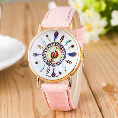 Beautiful Peacock Feather Leather Watch - Oh Yours Fashion - 4