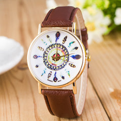 Beautiful Peacock Feather Leather Watch - Oh Yours Fashion - 10
