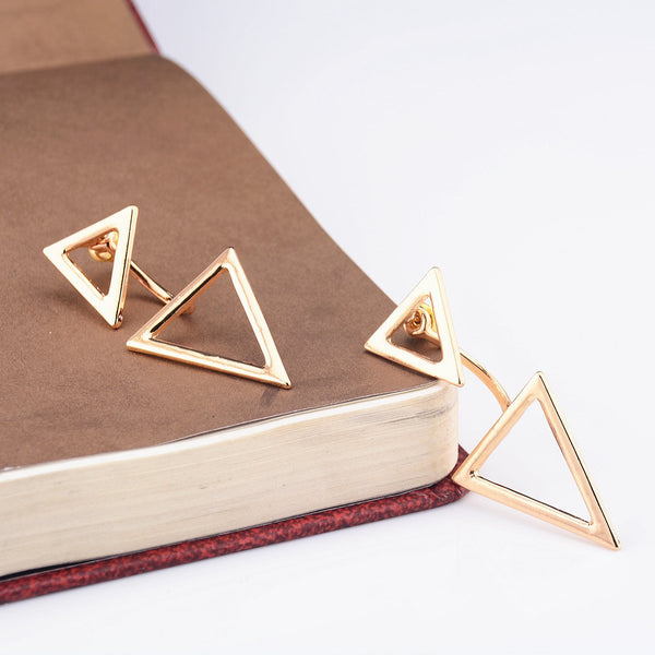 Fashionable Double Triangle Lady's Earrings