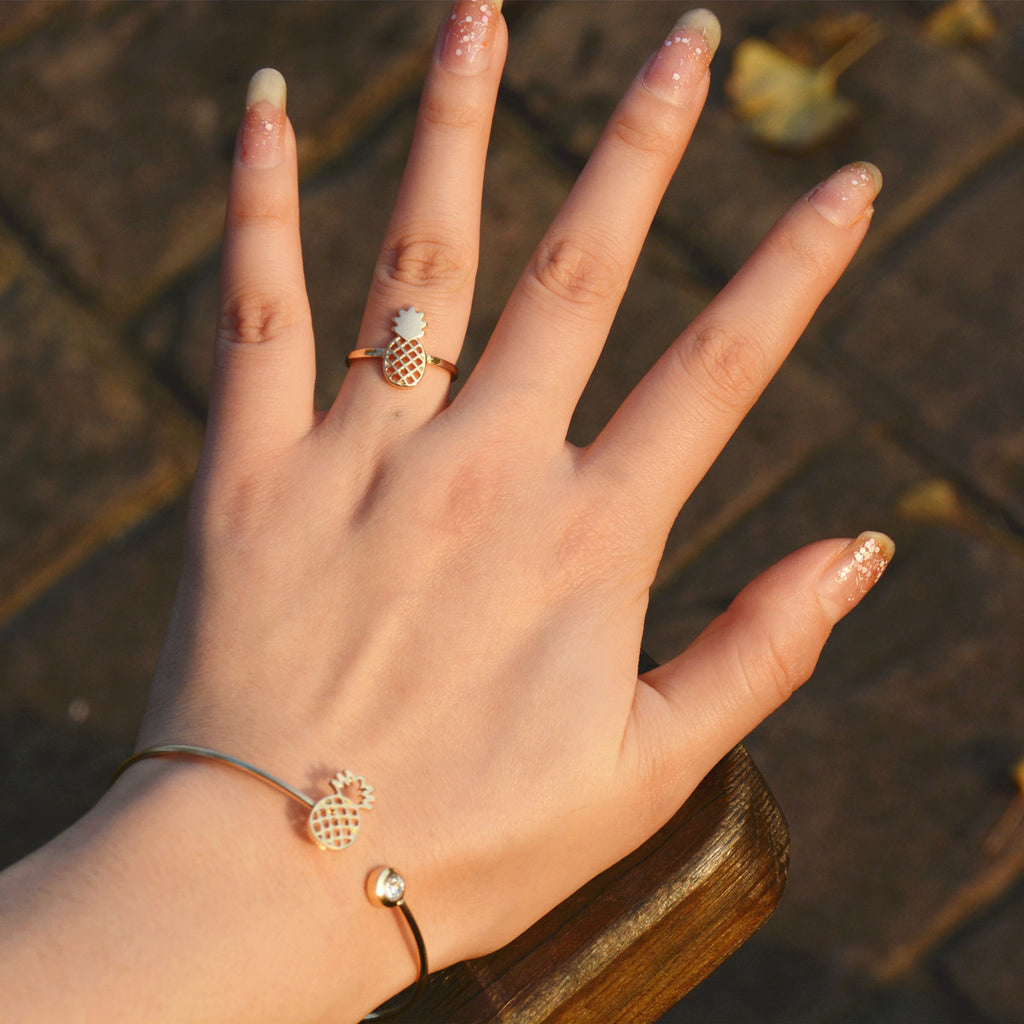 Sweet Pineapple Bracelet Ring - Oh Yours Fashion - 1