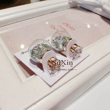 Fashion Glass Ball Color Star Earring - Oh Yours Fashion - 11